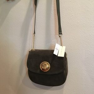 Talbots Bags - NWT 💥Talbots Olive Green Suede Crossbody
